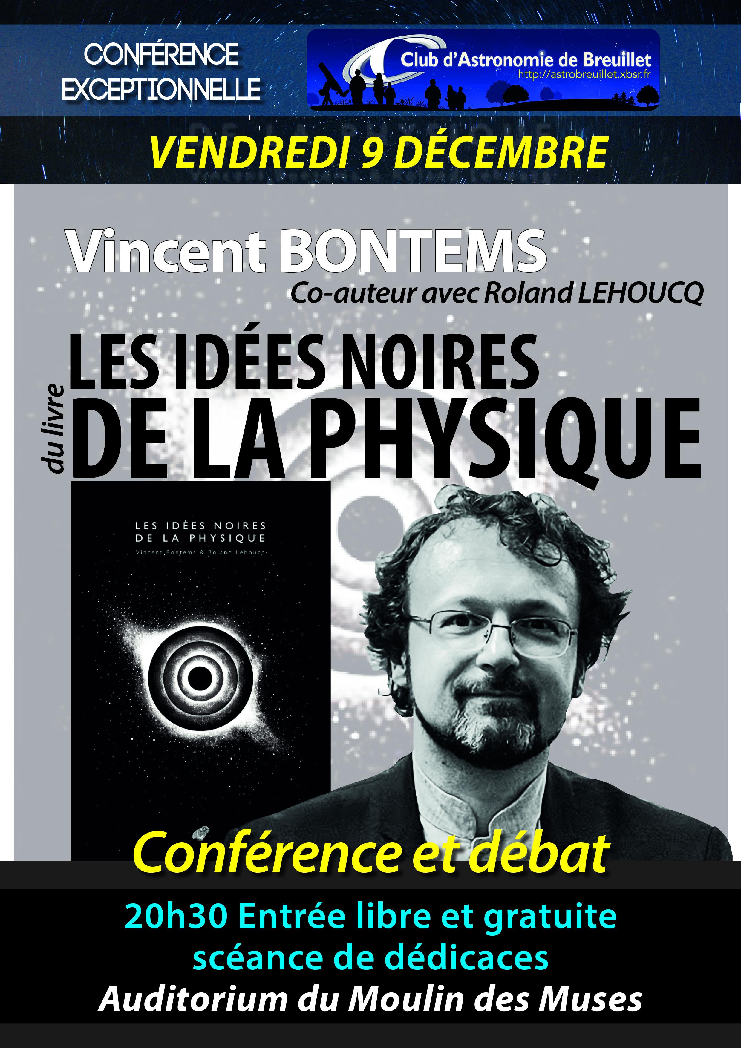 9 décembre : Les Idées noires en physique
